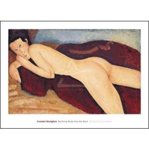 【アートポスター】背中を見せて横たわる裸婦 1917年(661×915mm) モディリアーニ|poster
