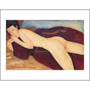 【アートポスター】背中を見せて横たわる裸婦 1917年(281×358mm) モディリアーニ|poster