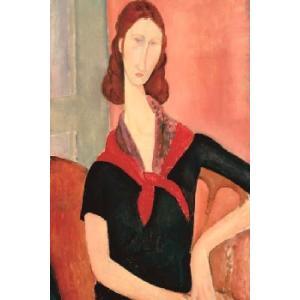 【アートポスター】スカーフを付けた若い女(610×915mm) モディリアーニ|poster