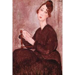 【アートポスター】Madame Dedie(610×915mm) モディリアーニ|poster