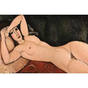 【アートポスター】横たわる裸婦(610×915mm) モディリアーニ|poster