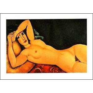 【アートポスター】横たわる裸婦(50cm×70cm) モディリアーニ|poster