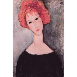【アートポスター】赤毛の女(610×915mm) モディリアーニ|poster