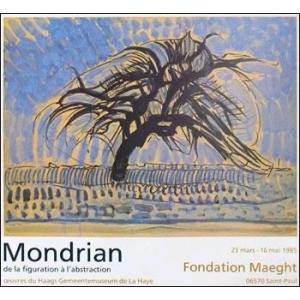 -アートポスター-樹木 1908年(608×662mm) モンドリアン -おしゃれインテリアに-|poster