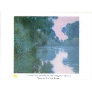 【アートポスター】 セーヌ川の朝 (60cm×80cm) クロード・モネ|poster