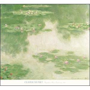 【モネ ポスター】睡蓮と水辺の風景 1907年 (660×711mm)|poster