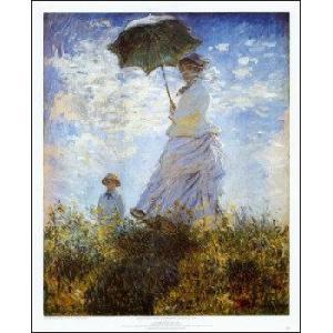 -モネ アートポスター-モネ夫人と息子(546×673mm) -おしゃれインテリアに-|poster