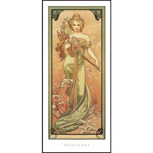【アートポスター】春1900年 (227×500mm) ミュシャ|poster