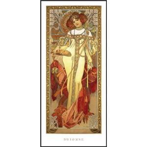 -アートポスター-秋1900年 (227×500mm) ミュシャ -おしゃれインテリアに-|poster