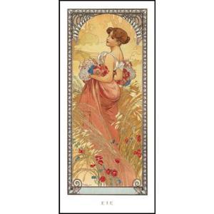 -アートポスター-夏1900年 (227×500mm) ミュシャ -おしゃれインテリアに-|poster