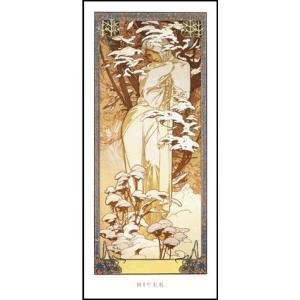 -アートポスター-冬1900年 (227×500mm) ミュシャ -おしゃれインテリアに-|poster