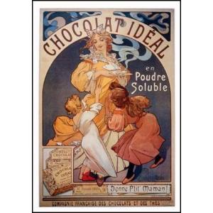 -ミュシャ アートポスター-理想のチョコレート(576x820mm) -おしゃれインテリアに-|poster