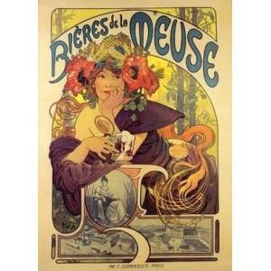 -アートポスター-Meuse Beer(500×700mm) ミュシャ -おしゃれインテリアに-|poster