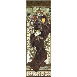 【アートポスター】ロレザッチオ (304×915mm) ミュシャ poster