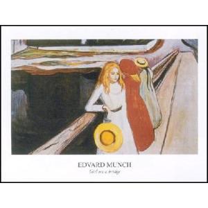 -アートポスター- 橋の上の少女たち (60cm×80cm) エドヴァルド・ムンク -おしゃれインテリアに-|poster