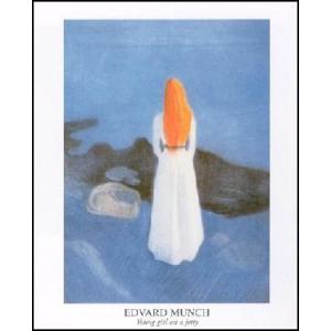 -アートポスター- 防波堤の少女 (60cm×80cm) エドヴァルド・ムンク -おしゃれインテリアに-|poster