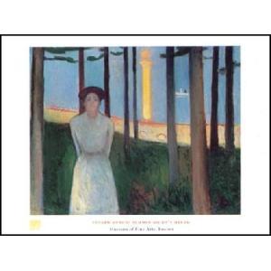 -アートポスター- 真夏の夜の夢 (60cm×80cm) エドヴァルド・ムンク -おしゃれインテリアに-|poster