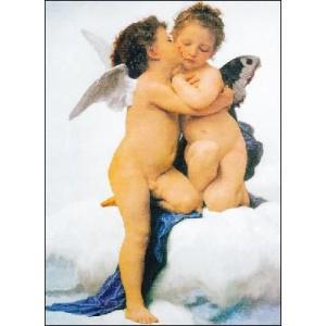 【アートポスター】 ファーストキス (50cm×70cm) 天使・ルネッサンス|poster