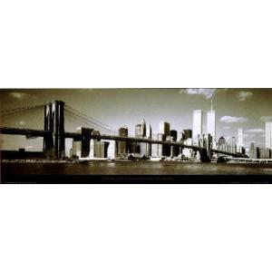【フォトポスター】 ブルックリン橋 33cm×95cm 街 poster