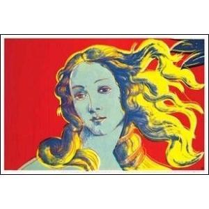 -ウォーホル アートポスター-ヴィーナスの誕生(赤)  (570×855mm) -おしゃれインテリアに- poster