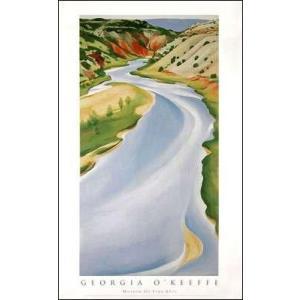【アートポスター】Blue river(559×990mm) オキーフ|poster
