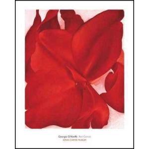 【アートポスター】Red Cannas(610×762mm) オキーフ|poster