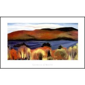 【アートポスター】Lake George, Autumn, 1927(610×965mm) オキーフ|poster