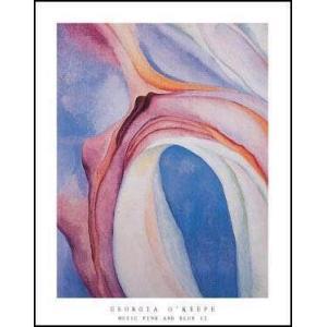 【アートポスター】ピンクと青の音楽(560×710mm) オキーフ|poster