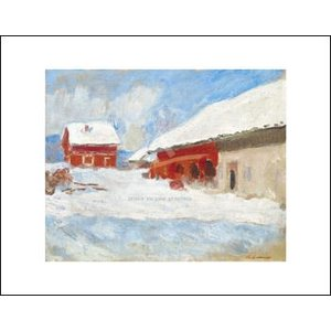 -モネ アートポスター-赤い家, ノルヴァージュ1895年(281×358mm) -おしゃれインテリアに-|poster