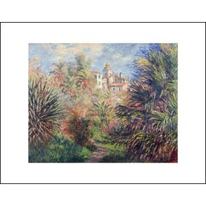 -モネ アートポスター-ボルディゲラの庭1884年(281×358mm) -おしゃれインテリアに-|poster