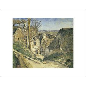 【アートポスター】オーヴェル・シュル・オワーズ1873年(281×358mm) セザンヌ|poster