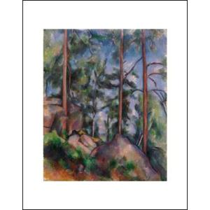 -アートポスター-松の木と岩1897年(281×358mm) セザンヌ -おしゃれインテリアに- poster