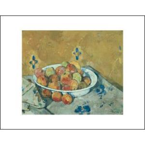 -アートポスター-リンゴののった皿1897年(281×358mm) セザンヌ -おしゃれインテリアに- poster