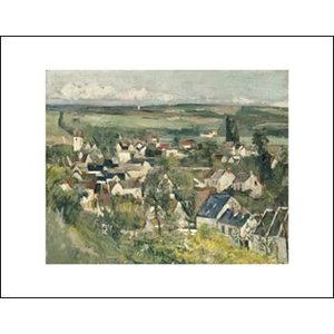 -アートポスター-オーヴェルの展望1873-75年(281×358mm) セザンヌ -おしゃれインテリアに- poster