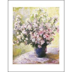 -モネ アートポスター-花瓶の花(281×358mm) -おしゃれインテリアに-|poster