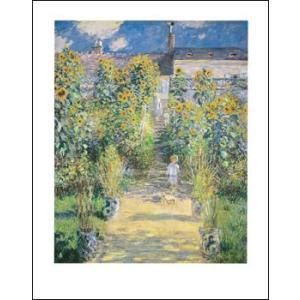 -モネ アートポスター-ヴェトゥイユの画家の庭(281×358mm) -おしゃれインテリアに-|poster