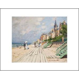 -モネ アートポスター-トゥルーヴィルの海辺1870年(281×358mm) -おしゃれインテリアに-|poster