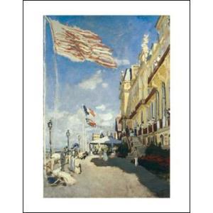 -モネ アートポスター-ロシェノアールのホテル、トゥルーヴィユ1870年(281×358mm) -おしゃれインテリアに-|poster
