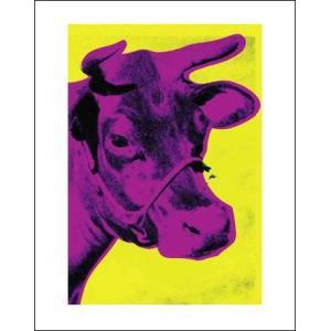 -ウォーホル アートポスター-牛1971年(黄とピンク) -281x358mm- -おしゃれインテリアに- poster