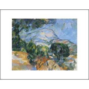 -アートポスター- サント=ヴィクトワール山1904年(281×358mm) セザンヌ -おしゃれインテリアに- poster