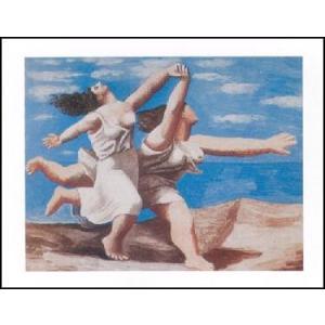 -アートポスター- 海辺をかける二人の女 60cm×80cm パブロ・ピカソ -おしゃれインテリアに-|poster