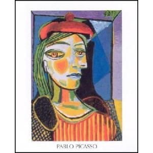 -アートポスター- 赤いベレー帽の女 60cm×80cm パブロ・ピカソ -おしゃれインテリアに-|poster
