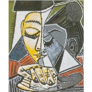 -パブロ・ピカソ アートポスター-読書する女 (60cm×80cm) -余白無し-  -おしゃれインテリアに-|poster