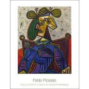 -アートポスター-座る女1941年(700×900mm)  ピカソ -おしゃれインテリアに-|poster