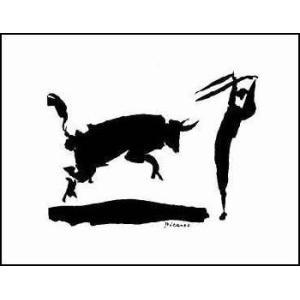 -アートポスター-闘牛III - ピカドール(281x358mm) ピカソ -おしゃれインテリアに-|poster