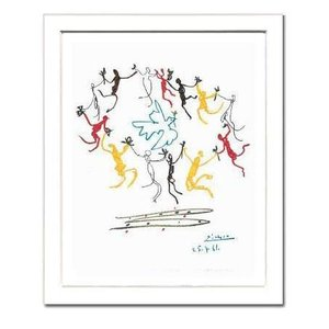 【パブロ・ピカソ額付ポスター】ダンス (320×390×15mm)|poster