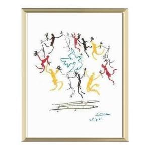 【パブロ・ピカソ アルミ額装ポスター】ダンス (300×380×7.5mm)|poster