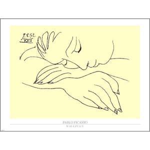 【ピカソ ポスター】戦争と平和(60x80cm)|poster