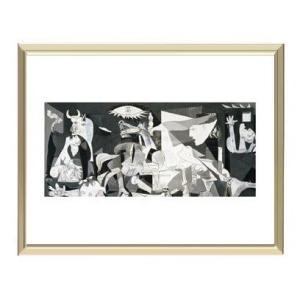 【パブロ・ピカソ アルミ額装ポスター】ゲルニカ(300×380×7.5mm)|poster
