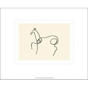 -アートポスター- 馬(シルクスクリーン)500×600mm ピカソ -おしゃれインテリアに-|poster